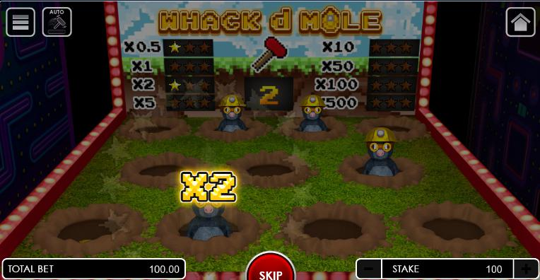 whack d mole game arcade
